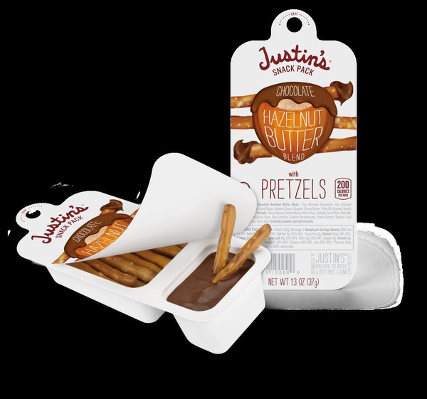 CHOCOLATE HAZELNUT BUTTER + PRETZELS - 6-Pack (6 x 1.3 oz. snack pack)