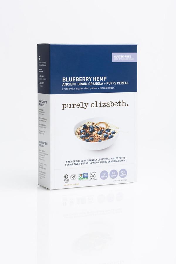 BLUEBERRY HEMP ANCIENT GRAIN GRANOLA + PUFFS CEREAL
