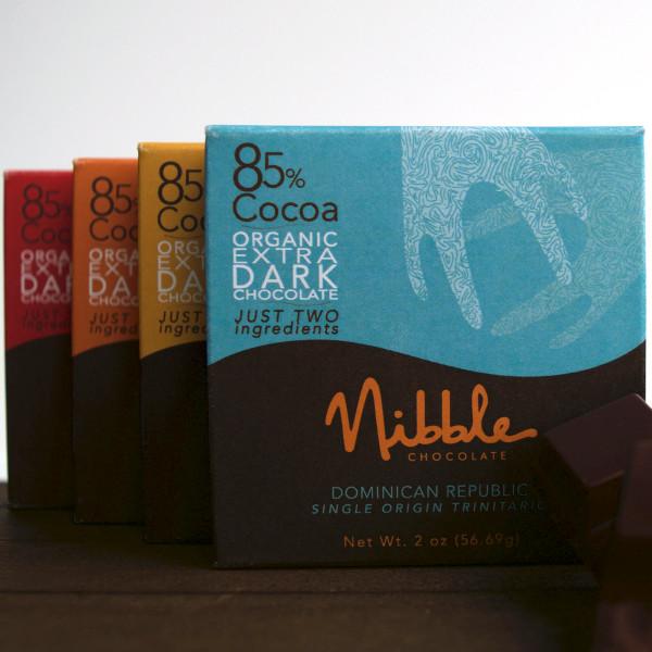 Four Bar Flight 85% Organic Extra Dark Chocolate