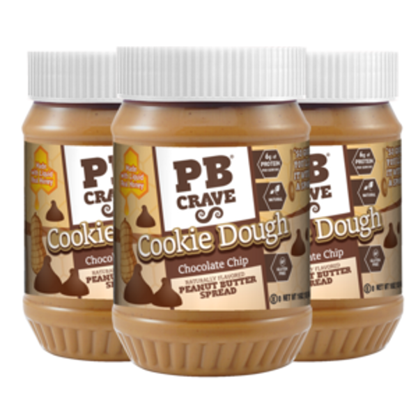 Cookie Dough Chocolate Chip Peanut Butter - 3 Pack