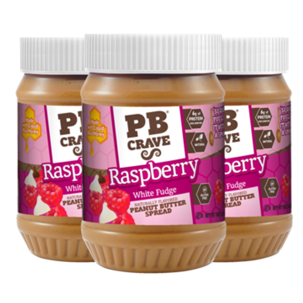 Raspberry White Fudge Peanut Butter - 3 Pack