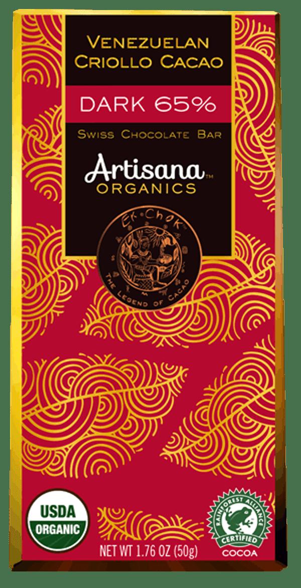 Swiss Chocolate Bar – Dark 65%  Venezuelan Criollo Cacao