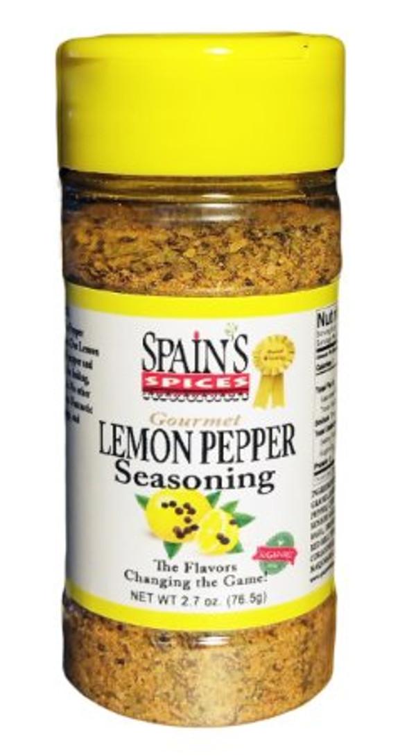 Spain's Gourmet Lemon Pepper Seasoning 5.1 oz - Gluten Free, Sugar Free, No MSG, No GMO