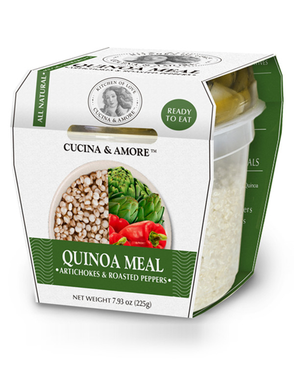 6 Pack : Cucina & Amore Quinoa Meal, Artichoke & Roasted Peppers, 7.9-ounce