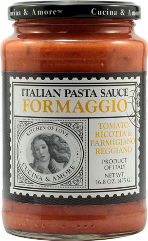 Cucina & Amore Italian Pasta Sauce Formaggio Tomato, Ricotta & Parmigiano Reggiano