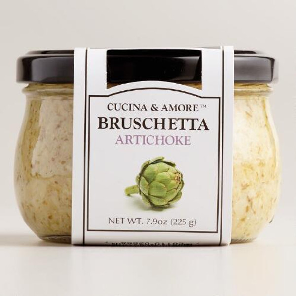 Cucina & Amore Artichoke Bruschetta,  7.9 Oz. Set of 6