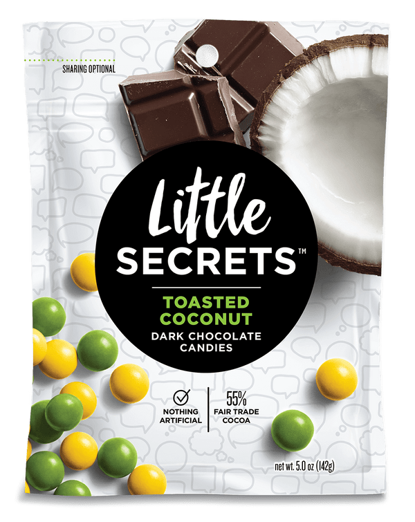 Little Secrets 5 oz Candies, 4 Pack (Toasted Coconut Dark Chocolate)