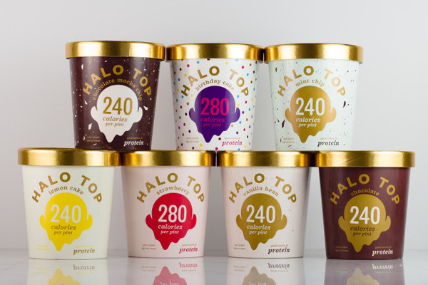 Halo Top Creamery - Lemon Cake Ice Cream - 1 Pint - Healthy!