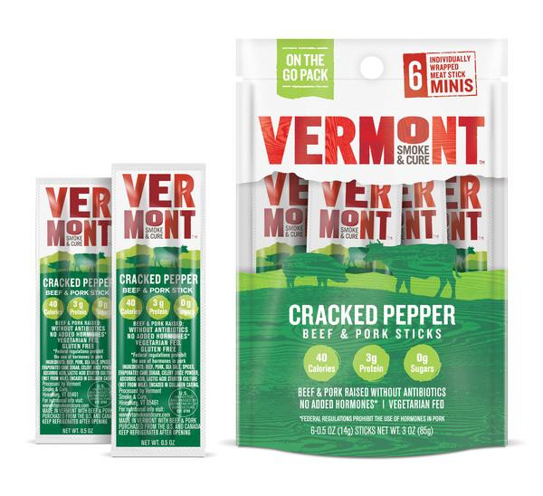 CRACKED PEPPER BEEF & PORK MINI MEAT STICK GO PACKS (PACK OF 8 POUCHES)