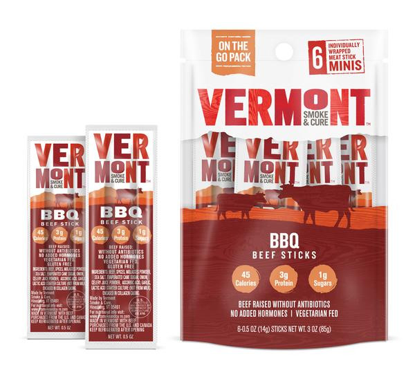 BBQ BEEF MINI MEAT STICK GO PACKS (PACK OF 8 POUCHES)