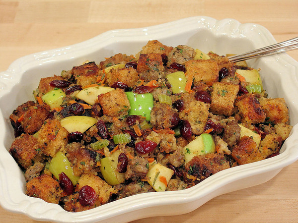 Apple Sausage and Cranberry Stuffing