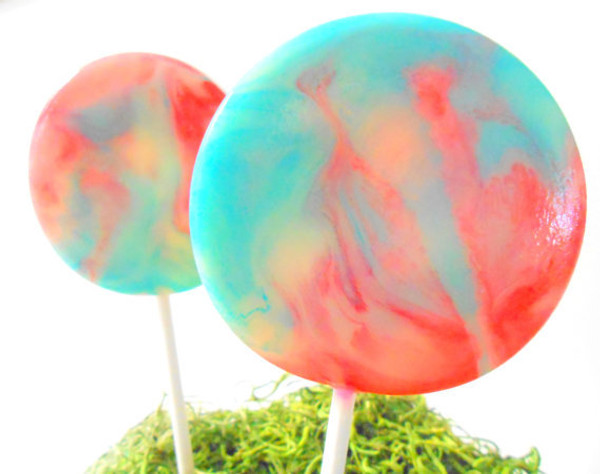 Cotton Candy Carnival Gourmet Lollipops - Set of 8 Large