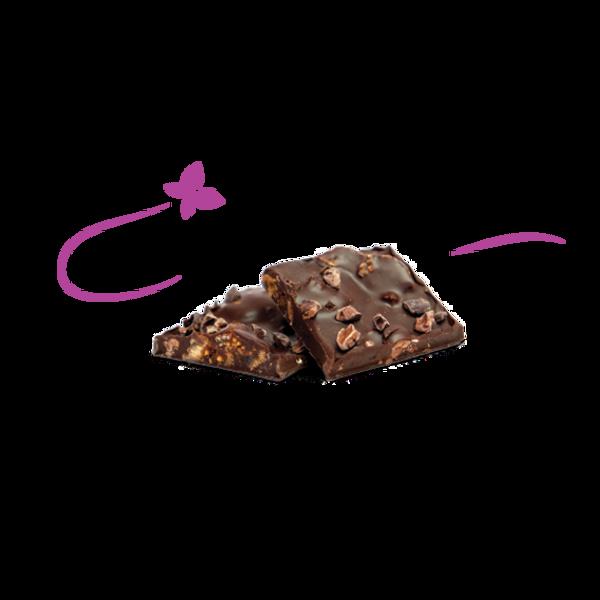 Nibs Figs Maca Organic Dark Chocolate Bark / 12 Pack
