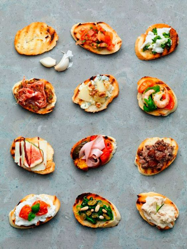 Two Bite Crostini Party Ideas w/ Recipes