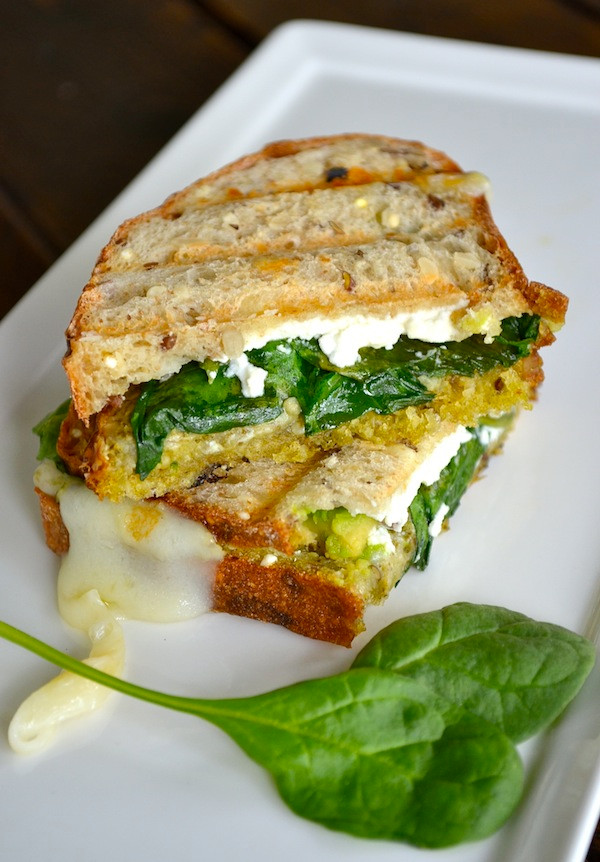 Avocado & Goat Cheese Grilled Cheese