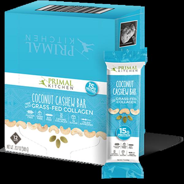 PRIMAL KITCHEN COCONUT CASHEW BARS (12 PACK)