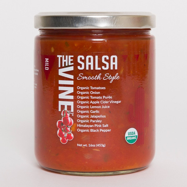 Organic Mild Smooth Salsa (Mild Smooth Style)