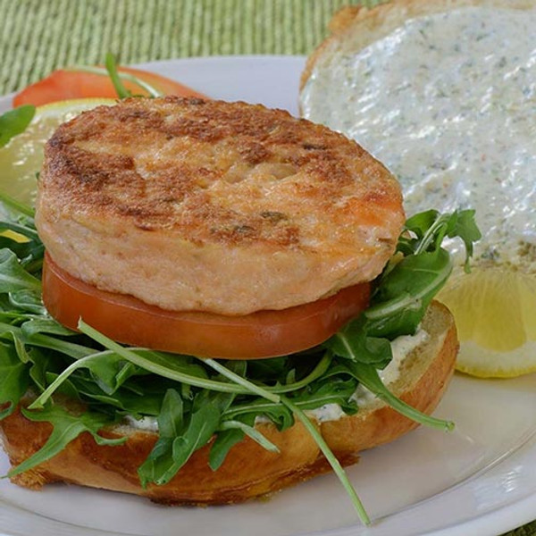 Norwegian Salmon Burgers - 10 lbs,  4oz each