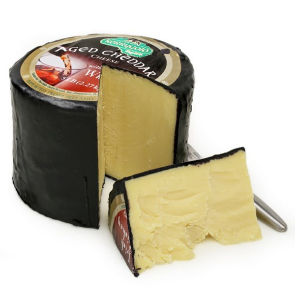 Kerrygold Grass-fed AGED CHEDDAR WITH IRISH WHISKEY CHEESE - 5 lbs