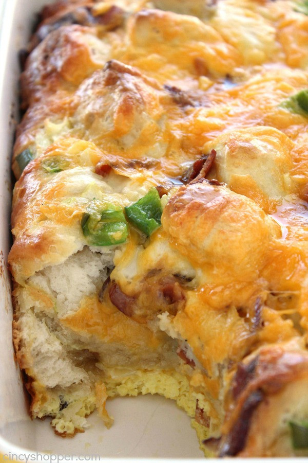 Bacon Egg & Cheese Biscuit Breakfast Casserole