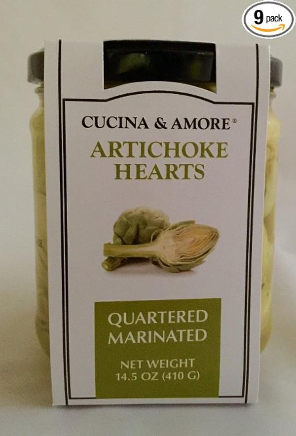 Cucina & Amore Artichoke Qrtr Mrntd - 6 Pack
