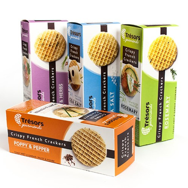 Crispy French Waffle Crackers by Tresors Gourmands