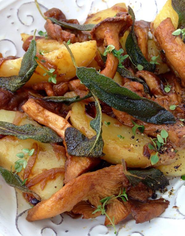 Chanterelle Mushrooms & Crispy Sage Potatoes