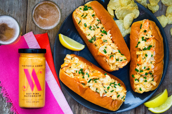 Lobster Rolls with Hot Pink Mayonnaise