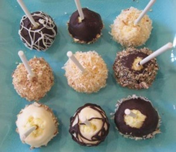 Gourmet Cheesecake Pop Assortment - 50 pieces per tray