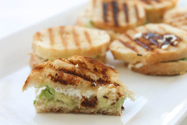 Mini Avocado & Goat Cheese Grilled Cheese - 30 pieces per tray