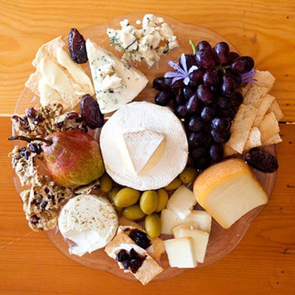 A Tour of Wine Country Cheese Gift Plate