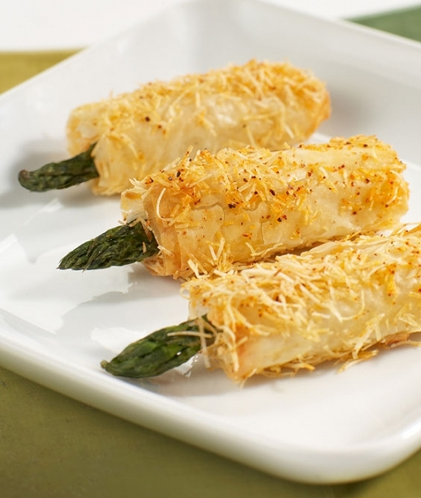 Crispy Asparagus Asiago Spears - 50 pieces per tray