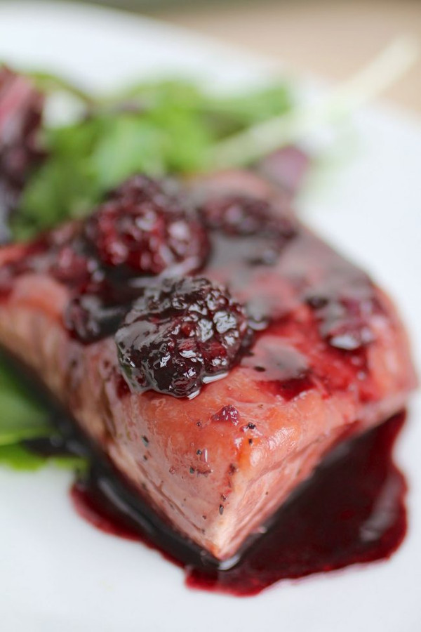 Blackberry Glazed Salmon