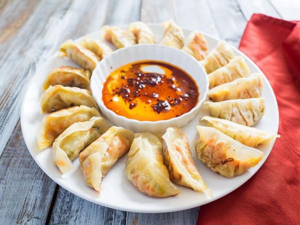 Avocado Edamame Potstickers - 35 pieces per tray