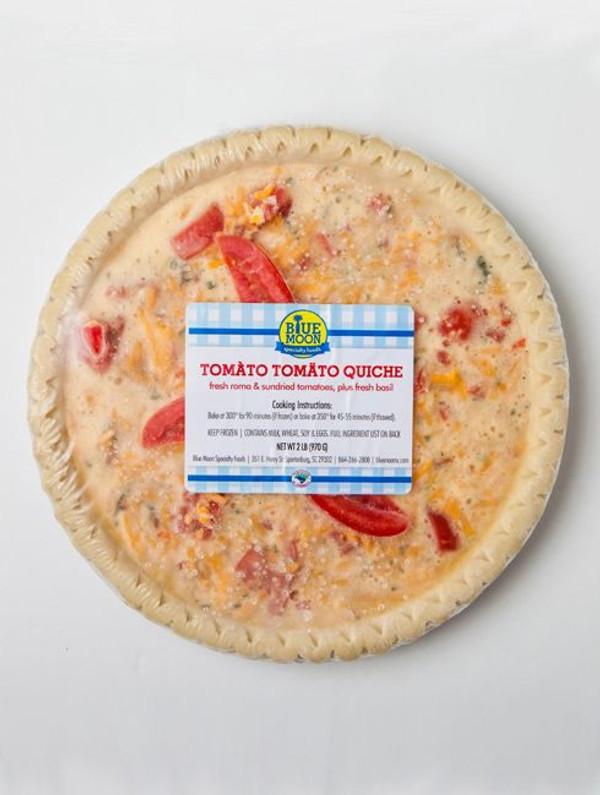 Tomato Cheddar Tomato Quiche