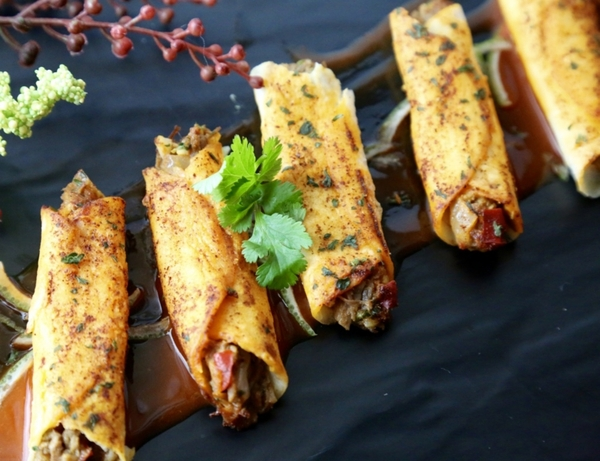 Beef Barbacoa Taquito - 50 pieces per tray