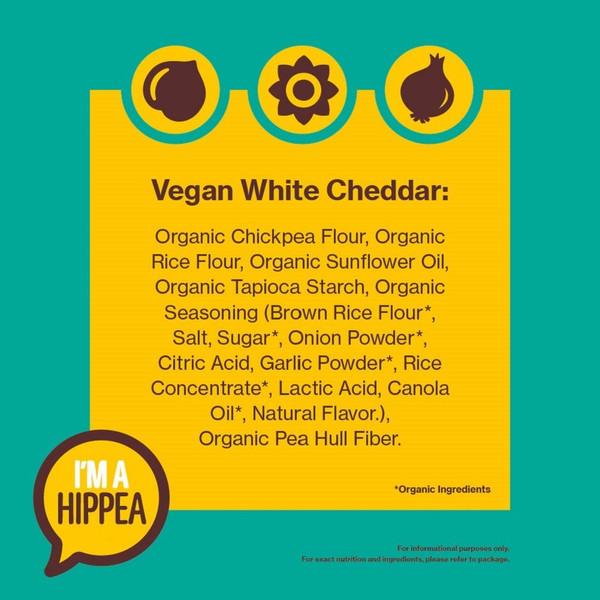 Hippeas Organic Chickpea Puffs, Vegan White Cheddar, 4 oz., 10 Count, Gluten-Free