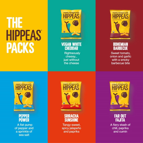 Hippeas Organic Chickpea Puffs, Pepper Power, 4 oz., 10 Count, Vegan, Gluten-Free