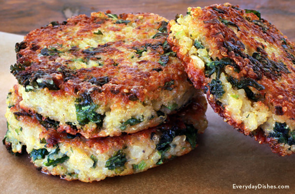 Kale Quinoa Cakes - 4 of 3 oz. each