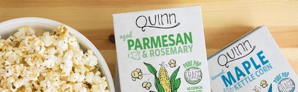 Quinn Reinvented Popcorn Variety Pack - white cheddar, vermont maple, sea salt, parmesan & rosemary