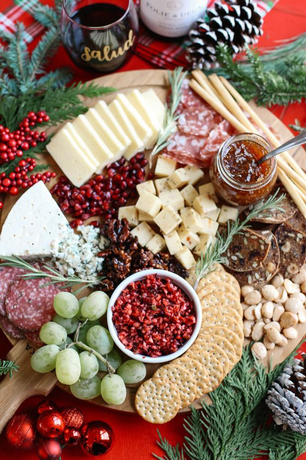Create a Holiday Charcuterie Cheese Board