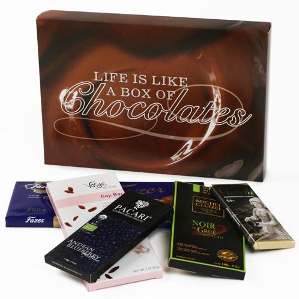 Chocolate Bars of the World Gift Box - Life is Like a Box of Chocolates