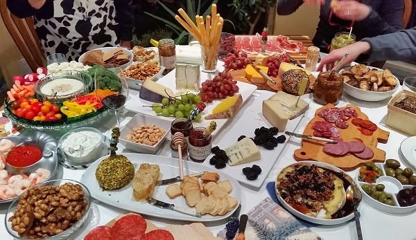 New Year's Eve Party Food Assortment for 20 people