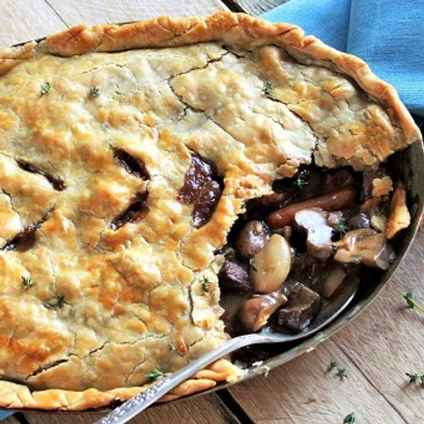 Beef Burgandy Pot Pie - Serves 9