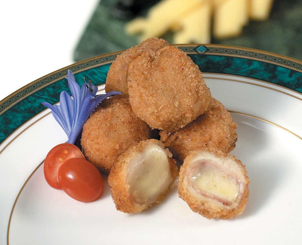 Mini Chicken Cordon Bleu Bites - 100 pieces per tray