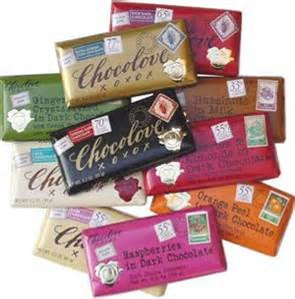 12 Bars of Chocolove xoxox Chocolate Bar Gift Set