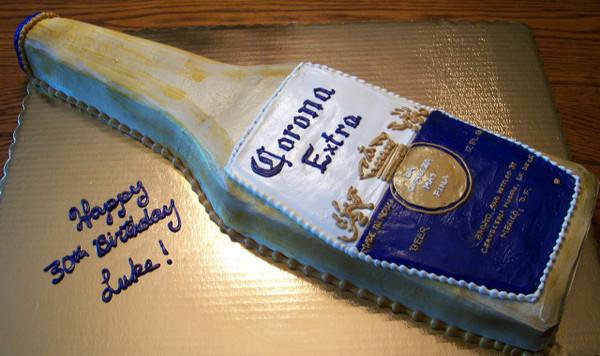 Corona Beer Bottle Cake - price per serving