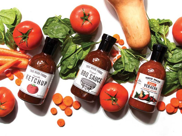 True Made Foods Vegetable Ketchup, Paleo Friendly, Non-GMO, 50% Less Sugar, 6 pack