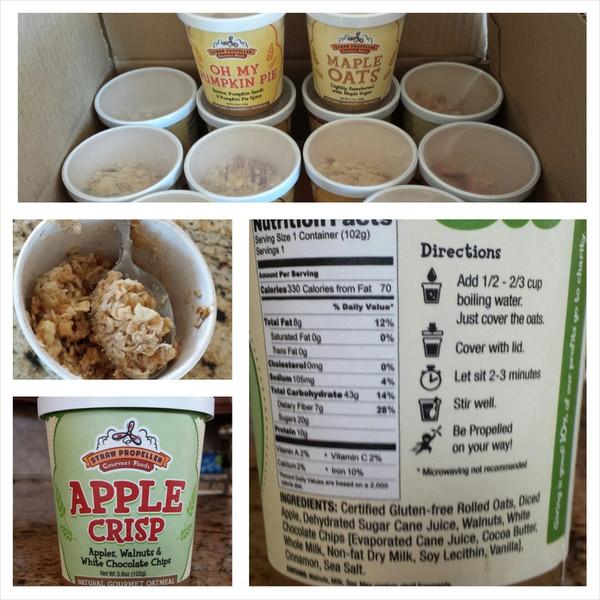 Apple Crisp Gourmet Oatmeal, 3.1 oz - Pack of 12