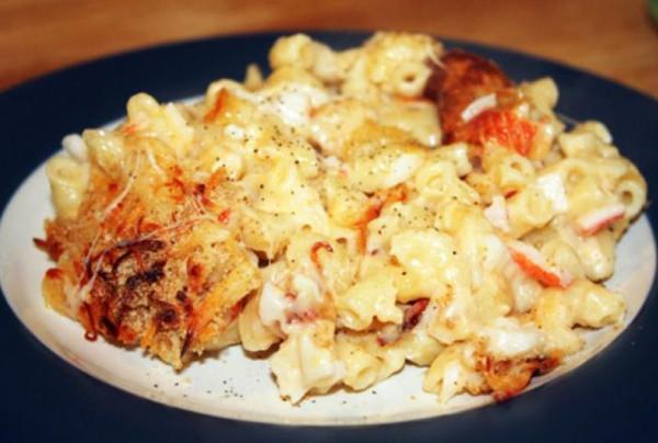 Creamy Cajun Shrimp and Crab Mac & Cheese